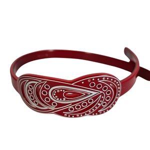 Mimco Red Silver Elegant Headband